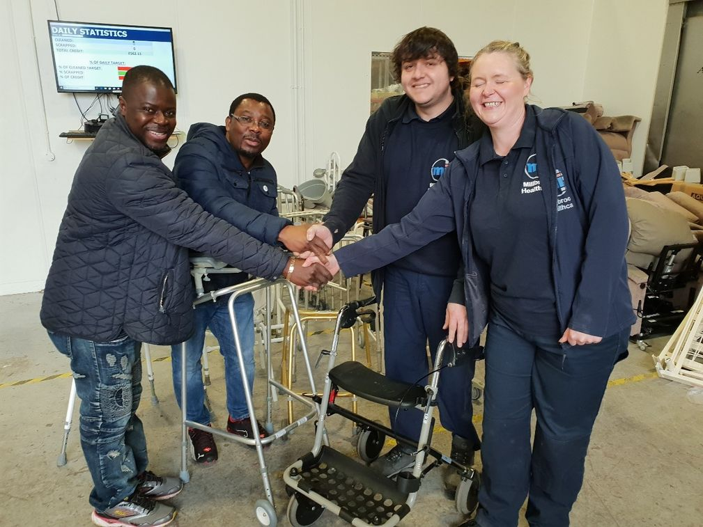 REACT RECEIVES HEALTHCARE EQUIPMENT FROM MILLBROOK HEALTHCARE